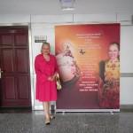 Людмила Скирда в холі Пекінського університету нафти