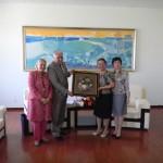 З ректором та проректором Університету іноземних мов м. Далянь