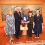 З Віце-мером м. Далянь Чжу Ченцин та Ректором Університету іноземних мов м. Далянь Сунь Юйхуа