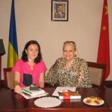 Людмила Скирда під час інтерв'ю
